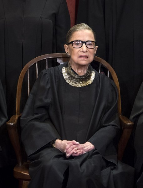 Supreme Court Associate Justice Ruth Bader Ginsburg said during an event Saturday, Aug. 31, at the Library of Congress that she is recovering from cancer treatment earlier in the month and expects to return to work when the next court session begins. File Photo by Kevin Dietsch/UPI