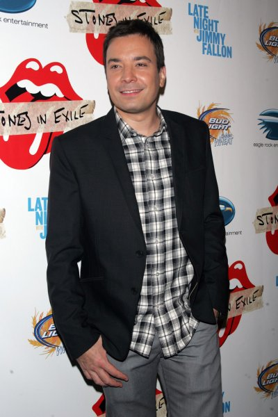 Jimmy Fallon arrives for the Special Screening of the Rolling Stones' Stones in Exile at the Museum of Modern Art in New York on May 11, 2010. UPI /Laura Cavanaugh