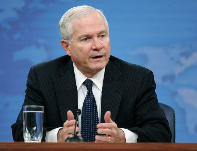 Secretary of Defense Robert Gates discusses policy with the media during a news conference at the Pentagon in Arlington, Virginia, on May 18, 2011. UPI/Roger L. Wollenberg