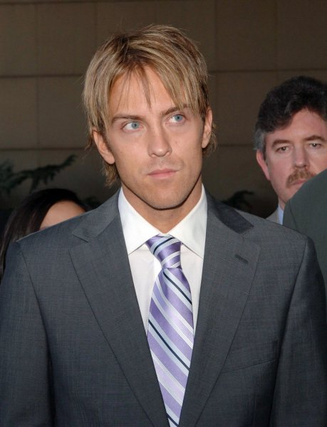 Larry Birkhead, the late Anna Nicole Smith's former boyfriend, speaks with reporters following a probate court hearing naming longtime companion Howard K. Stern the executor of her estate and designated Birkhead, the father of her baby daughter Dannielynn, guardian of the child's estate in Los Angeles on June 19, 2007. (UPI Photo/Jim Ruymen)