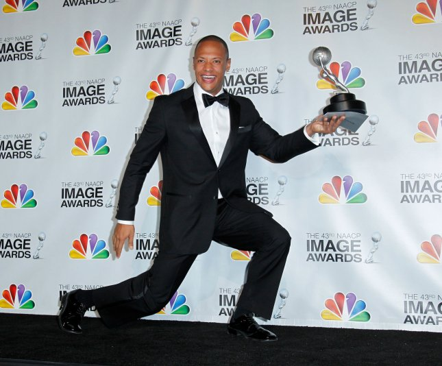 Actor Emerson Brooks holds his award for Outstanding Actor in a Daytime Drama Series award for 'All My Children' at at the 43rd NAACP Image Awards at the Shrine Auditorium in Los Angeles on February 17, 2012. UPI/Danny Moloshok