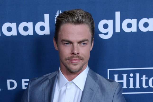 Dancer Derek Hough attends the 27th annual GLAAD Media Awards at the Beverly Hilton Hotel in Beverly Hills on April 2, 2016. File Photo by Jim Ruymen/UPI