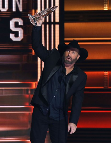 Garth Brooks wins Entertainer of the Year at the 51st Annual Country Music Association Awards on Thursday. Photo by John Sommers II/UPI