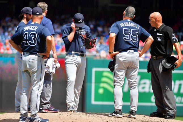 The Atlanta Braves posted the fifth-best bullpen ERA in the National League last season. File Photo by Kevin Dietsch/UPI