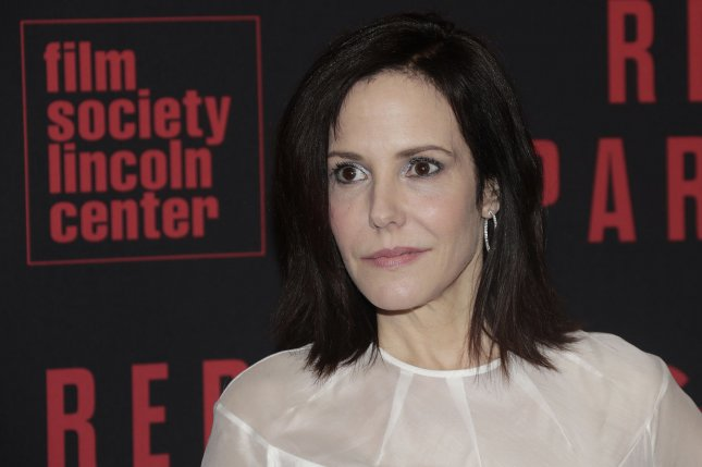 Mary-Louise Parker arrives on red carpet at the Red Sparrow premiere at Alice Tully Hall at Lincoln Center on February 26, 2018, in New York City. The actor turns 57 on August 2. File Photo by John Angelillo/UPI