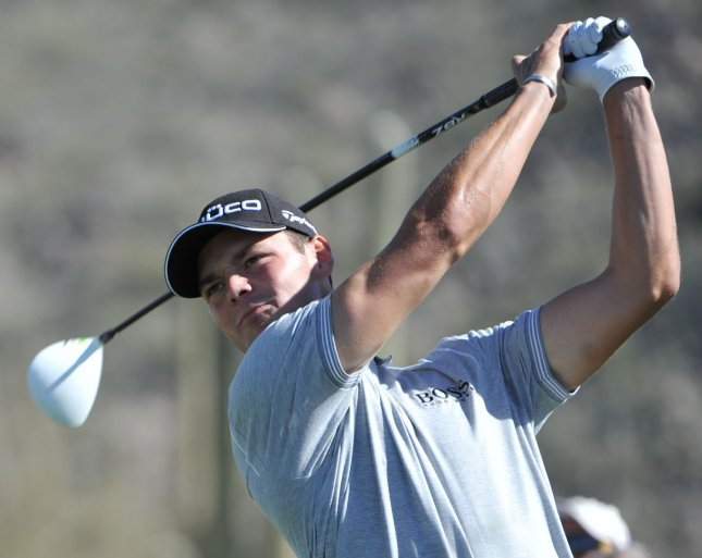 Martin Kaymer, shown in a tournament in February, had a bogey on the final hole of his match Friday and was eliminated from the European Tour's Volvo World Match Play Championship. UPI /Art Foxall