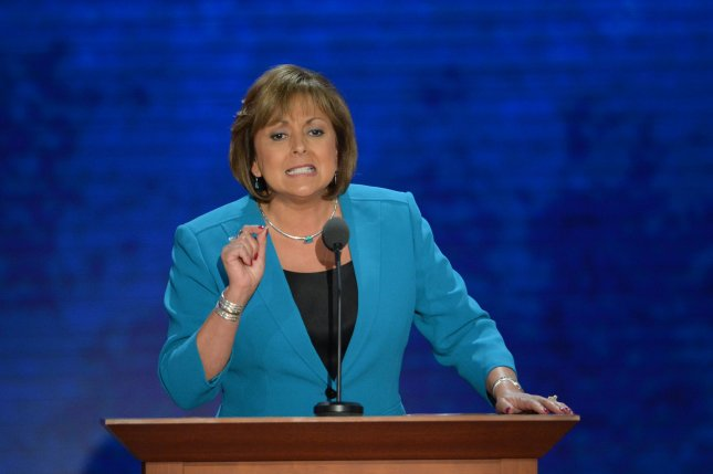 New Mexico Gov. Susana Martinez speaks at the 2012 Republican National Convention in Tampa. While some thought she could be a potential 2016 running mate, the presumptive GOP nominee, Donald Trump critcized Martinez for the state's economic problems. File photo by Kevin Dietsch/UPI