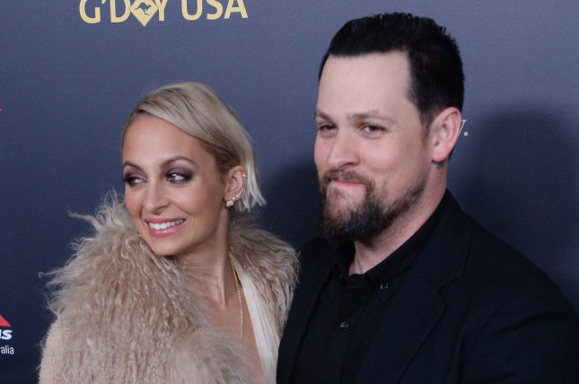 Joel Madden (R), pictured with Nicole Richie, couldn't help but gush about the actress on their wedding anniversary Monday. File Photo by Jim Ruymen/UPI