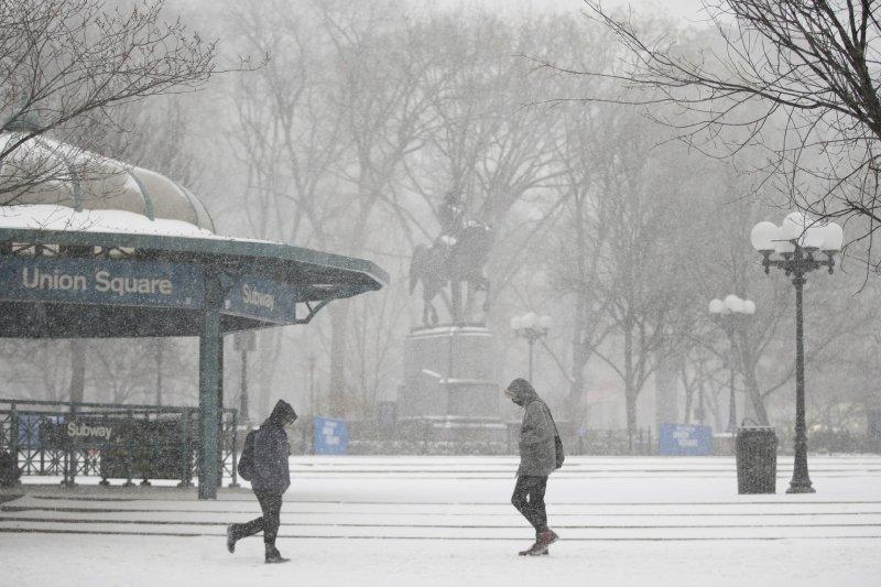 Winter storm slamming