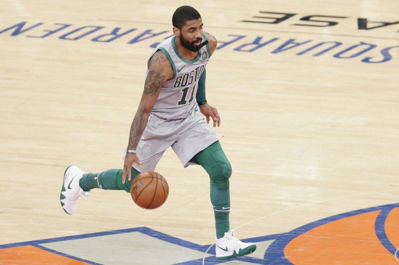 Kyrie Irving and the Boston Celtics face the New York Knicks on Thursday night. Photo by John Angelillo/UPI