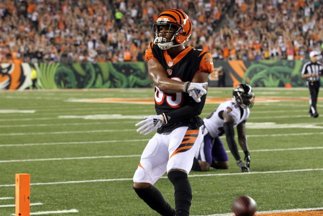 Cincinnati Bengals wide receiver Tyler Boyd signed a four-year contract extension worth $43 million. File Photo by John Sommers II/UPI