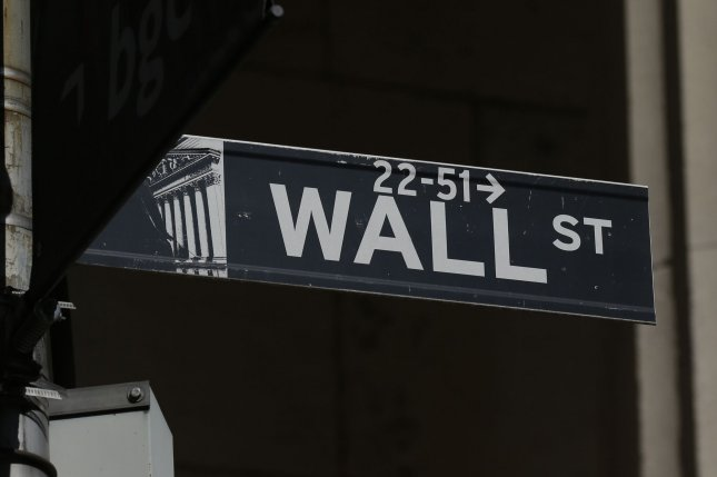 The Dow Jones Industrial Average rose 410 points on Monday as tech stocks surged and investors responded to optimism surrounding another round of COVID-19 stimulus. Photo by John Angelillo/UPI
