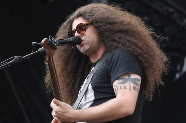 Coheed and Cambria member Claudio Sanchez performs during the Rock in Rio music festival in May 2015. Coheed and Cambria is going on tour with The Used. File Photo by James Atoa/UPI