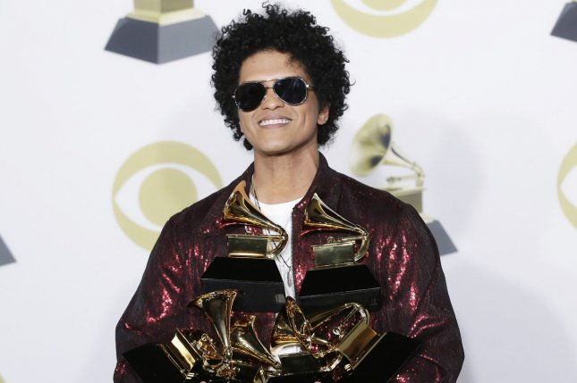 Bruno Mars and Anderson .Paak have released a new music video for their single Skate. File Photo by John Angelillo/UPI