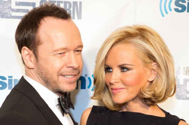Donnie Wahlberg and Jenny McCarthy arrive on the red carpet at SiriusXM's 'Howard Stern Birthday Bash' at Hammerstein Ballroom in New York City on February 1, 2014. UPI/Justin Alt