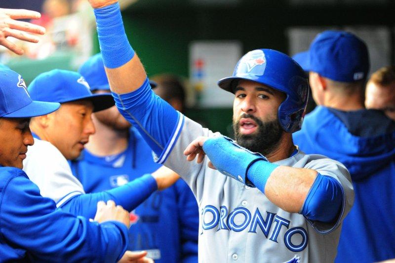 Toronto Blue Jays right fielder Jose Bautista (19). Photo by Mark Goldman/UPI