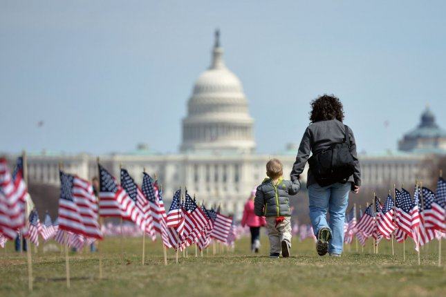 New research says fewer Americans believe children in the United States have the opportunity to grow and learn on a daily basis. File Photo byKevin Dietsch/UPI