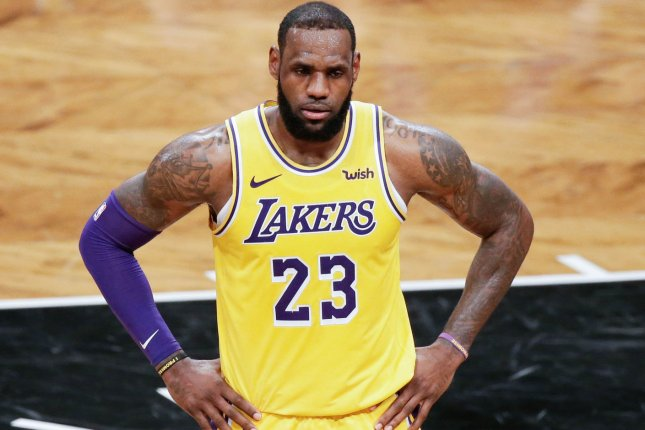 Los Angeles Lakers star LeBron James leads the NBA with 10.8 assists per game this season. File Photo by John Angelillo/UPI
