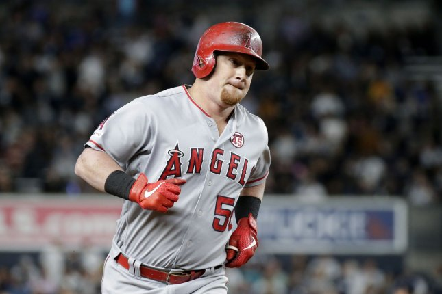 Los Angeles Angels outfielder Kole Calhoun became a free agent for the first time when the Angels declined to exercise his 2020 contract option. File Photo by John Angelillo/UPI