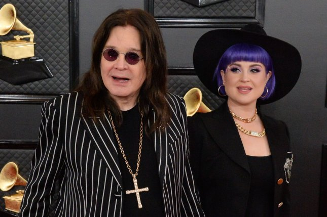 Ozzy Osbourne (L), pictured with Kelly Osbourne, called off the North American leg of his No More Tours II tour in order to seek medical treatment in Europe. File Photo by Jim Ruymen/UPI