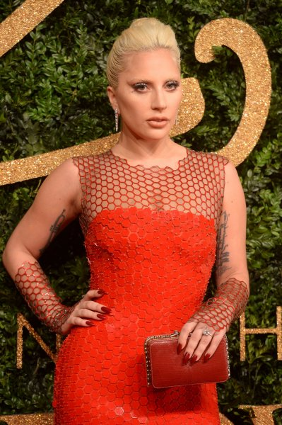 Lady Gaga attends the British Fashion Awards at The Coliseum in London on Nov. 23. Photo by Rune Hellestad/ UPI