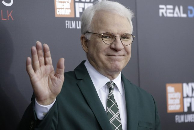 Steve Martin arrives on the red carpet at a special world premiere presentation of Billy Lynn's Long Halftime Walk on October 14, 2016 in New York City. File Photo by John Angelillo/UPI