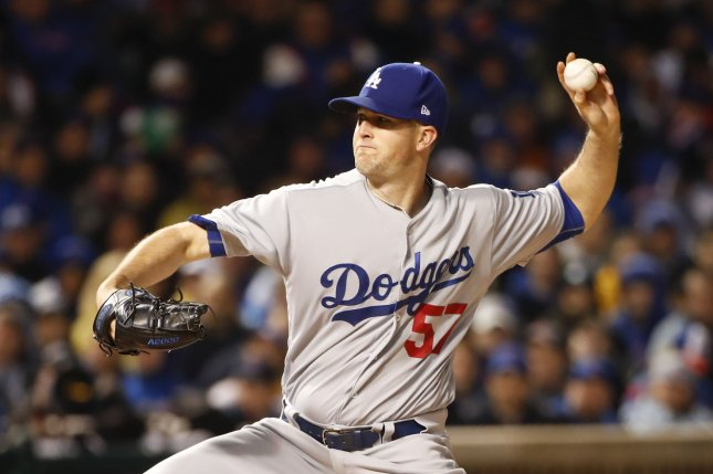 Los Angeles Dodgers starting pitcher Alex Wood throws a pitch. File photo by Kamil Krzaczynski/UPI