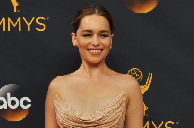 Emilia Clarke discussed Game of Thrones nudity in the December issue of Harper's Bazaar. File Photo by Christine Chew/UPI