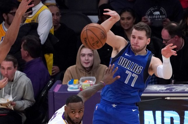 Dallas Mavericks star Luka Doncic will undergo an MRI on Friday morning to confirm the severity of the ankle injury. File Photo by Jon SooHoo/UPI