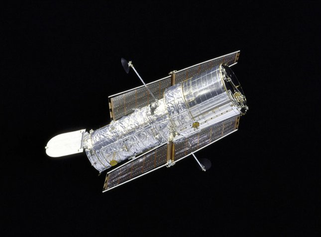 Hubble Space Telescope, shown in this NASA file photo (UPI PHOTO/NASA)