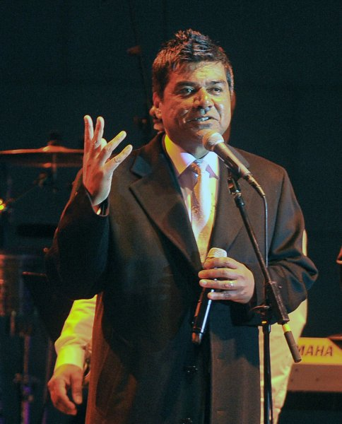 George Lopez performs at the Latino Inaugural Gala at Union Station in Washington on January 18, 2009. U.S. President-elect Barack Obama will be sworn into office on January 20. (UPI Photo/Alexis C. Glenn)