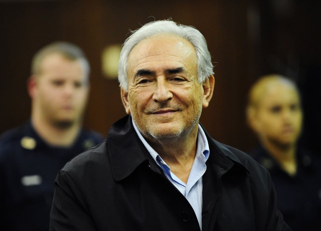 International Monetary Fund Chief Dominique Strauss-Kahn stands at the bench in Federal Court as he is arraigned on charges of sexually attacking a maid at a Manhattan hotel at 100 Centre Street in New York City on May 16, 2011. UPI/Emmanuel Dunand/Pool