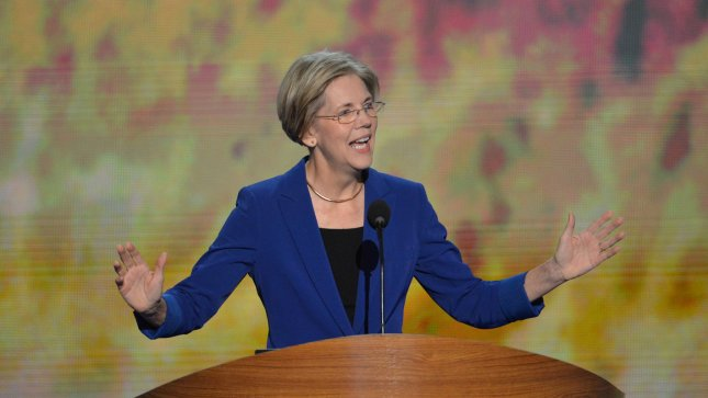 Elizabeth Warren, candidate for US Senate, Massachusetts, speaks at the Democratic National Convention at the Time Warner Cable Arena in Charlotte, North Carolina on September 5, 2012. UPI/Kevin Dietsch