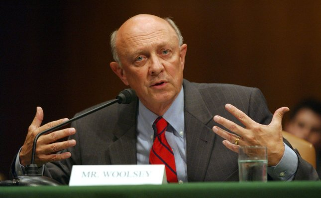 Former Director of Central Intelligence James Woolsey said he attended a meeting in September 2016 in which former Trump National Security Adviser Michael Flynn and top Turkish government ministers discussed sending Muslim Cleric and opposer to Turkey's President Recep Tayyip Erdogan, Fethullah Gulen, back to Turkey from the United States. (UPI Photo/Roger L. Wollenberg)