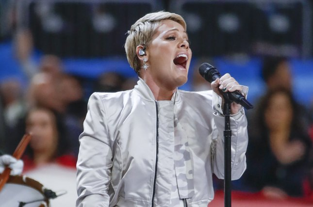 Pink defended herself on Instagram after postponing her show Saturday in Sydney. File Photo by Kamil Krzaczynski/UPI