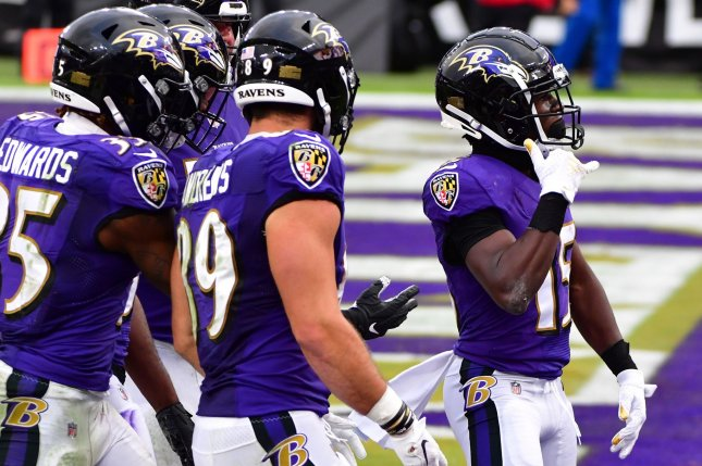 The Baltimore Ravens learned they had multiple members of the organization test positive for COVID-19 after they hosted the Tennessee Titans on Sunday in Baltimore. File Photo by David Tulis/UPI