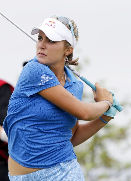 Lexi Thompson, shown in a June 2013 tournament is the youngest player to qualify for the U.S. side in the upcoming Solheim Cup. UPI/John Angelillo