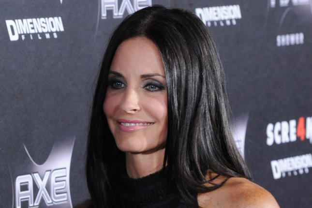Courteney Cox, a cast member in the motion picture thriller Scream 4, attends the premiere of the film at Grauman's Chinese Theatre in the Hollywood section of Los Angeles on April 11, 2011. UPI/Jim Ruymen