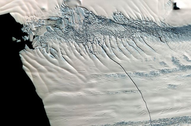 The current trend of glacial retreat in Western Antarctica began as early as the 1940s, new research suggests. Photo by UPI/ NASA