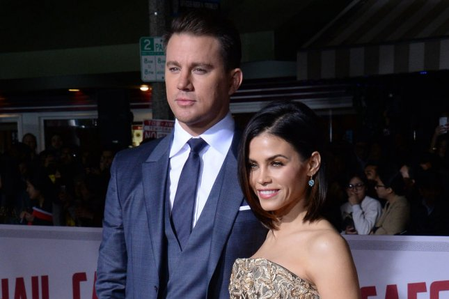 Jenna Dewan (R) and Channing Tatum at the Los Angeles premiere of Hail, Caesar! on February 1. File Photo by Jim Ruymen/UPI