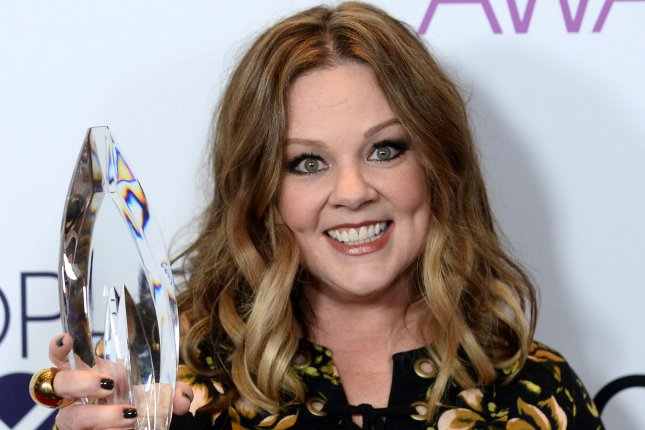 Melissa McCarthy attends the People's Choice Awards on January 18. The actress posed for a photo with Yanic Truesdale while in Greece. File Photo by Jim Ruymen/UPI