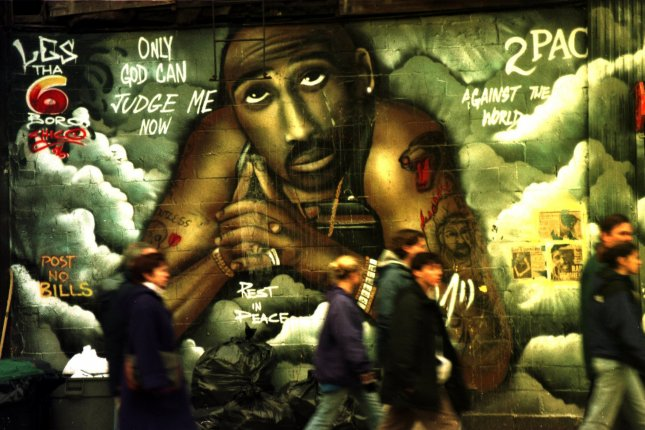 On September 13, 1996, rapper Tupac Shakur died in Los Angeles after he was shot in an ambush on September 7. File Photo by Ezio Petersen/UPI