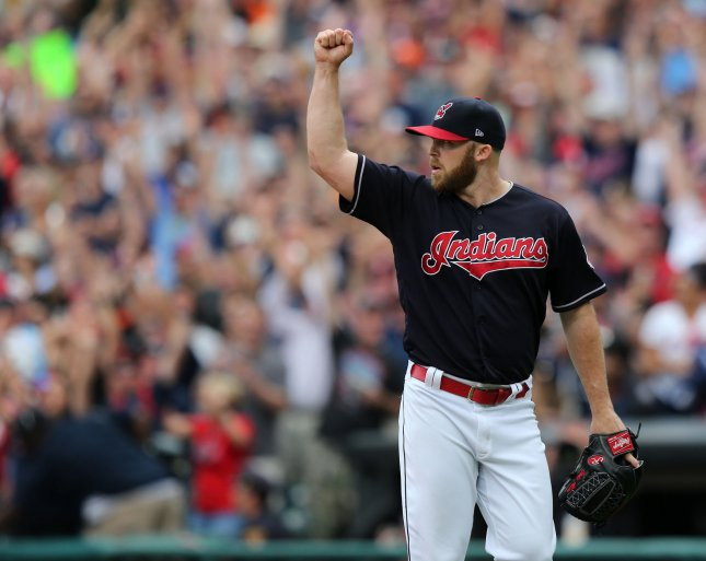 Cody Allen and the Cleveland Indians wrap up their series vs. the Houston Astros on Sunday. Photo by Aaron Josefczyk/UPI