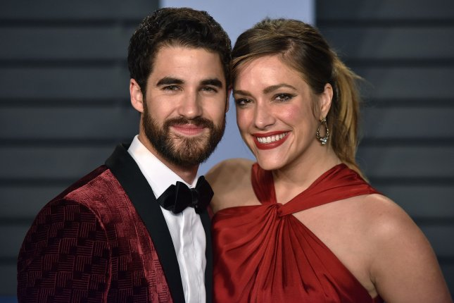 Actor Darren Criss and writer-producer Mia Swier got married this weekend after a yearlong engagement. File Photo by Christine Chew/UPI