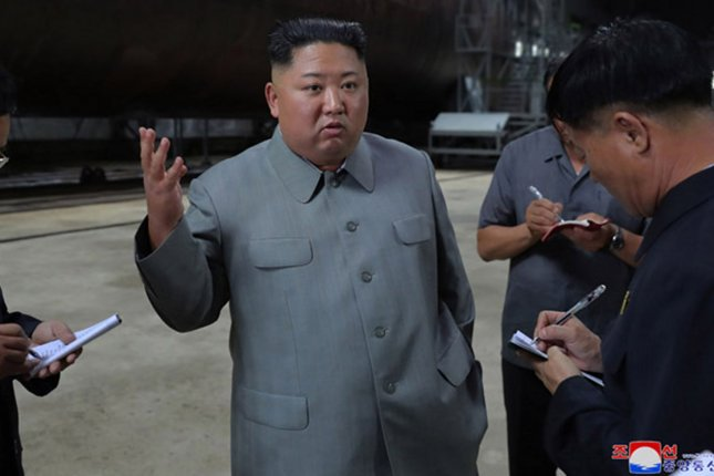 Kim Jong Un has called for increased research and development in the field of technology, according to Pyongyang's state media. File Photo by KCNA/UPI