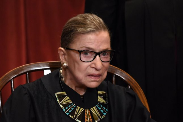 On August 10, 1993, Ruth Bader Ginsburg was sworn in as the U.S. Supreme Court's 107th justice. File Photo by Olivier Douliery/UPI