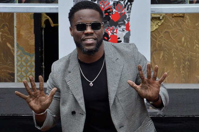Kevin Hart said he is working on his stand-up routine at his home while he and his family are self-quarantined. File Photo by Jim Ruymen/UPI