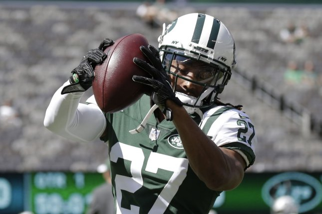 New York Jets cornerback Darryl Roberts has three career interceptions in four NFL seasons. File Photo by John Angelillo/UPI