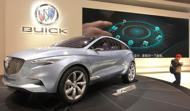 Buick unveils its new hybrid Envision SUV during a pre-Opening day show at the world's biggest automobile show being held in Beijing on April 25, 2012. China is the world's largest automobile and parts market, with international car makers setting up massive plants and dealerships across the country in hopes of gaining a share of the fast growing domestic market. UPI/Stephen Shaver