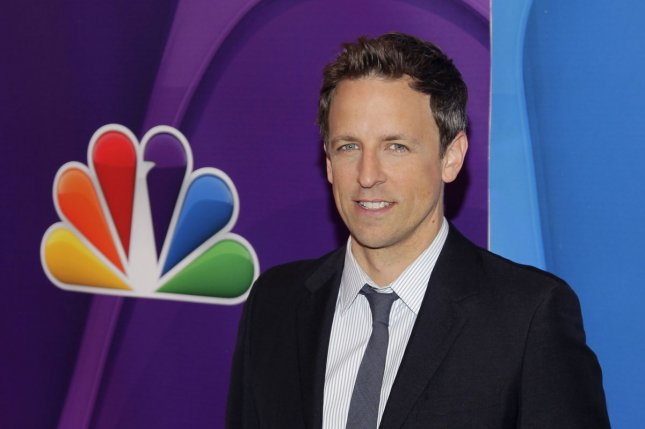 Seth Meyers arrives on the red carpet at the 2013 NBC Upfront Presentation at Radio City Music Hall in New York City on May 13, 2013. UPI/John Angelillo